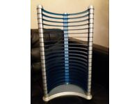 Plastic CD Rack Blue and Silver