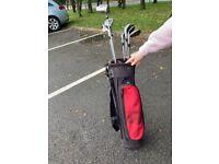Set of Slazenger golf clubs