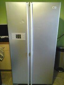 Large American style Fridge Freezer , Silver