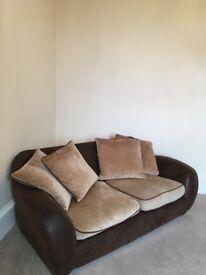 Italian Leather Two Seater Sofa