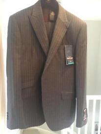 Next Mens grey striped suit