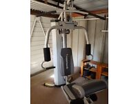 Maximuscle multigym and 20kg dumbbell set