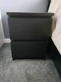 Two Ikea bedside drawers
