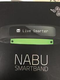 NABU X smartband two bands one white one black separate packaging