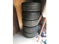 Alloys rims and tyres x 5