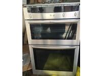 Double gas oven with gas hob.
