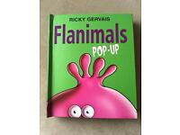 Flanimals hardback pop up book by Ricky gervais