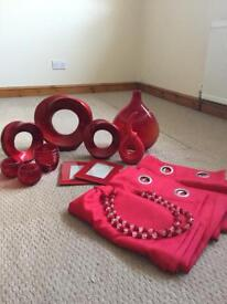 Red bundle of items