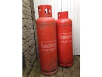 Calor propane 47 kg gas bottles, one half full