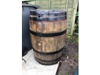 Wooden water barrel in good condition