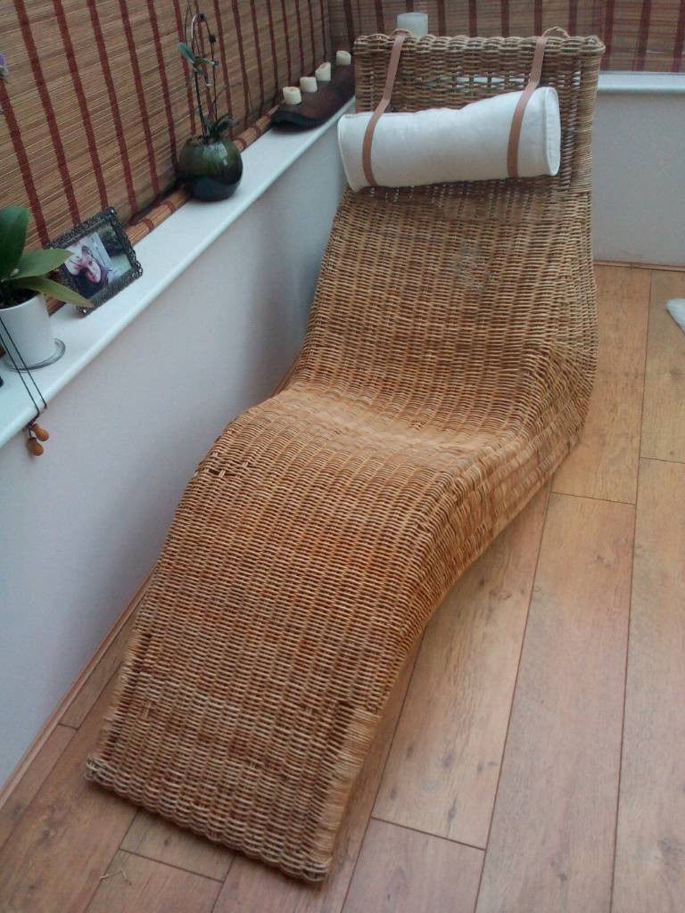 Basket chair ikea - Ikea Chaise Lounge Rattan Lounger Wicker Chair