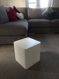 White stacking side tables DWELL -AS NEW!