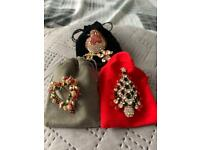 3 Christmas brooches each with pouch This is a great offer 🎅