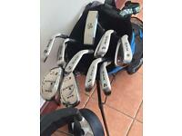 Ram full set of left handed cavity back irons