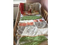 Mamas & Papas Elfie &Mop nursery bundle: curtains, bumper, light shade, duvet, canvases, wallborder