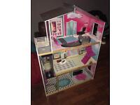 Huge Dolls House and tub full of dolls Disney Bratz Monster High