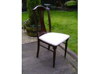 Wooden dining / bedroom chair