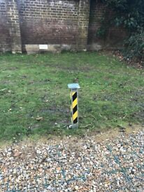 Private Parking space with secure Bollard