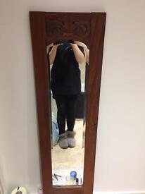 Beautiful mirror from Edwardian art nouveau wardrobe***