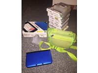 Nintendo 3DS XL with 14 games