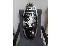 Black Lacquer oval wall plaque