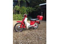 honda 50 moped 1985 long mot very low mileage red/white good condition