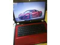 Red HP G6 Laptop Computer with Office