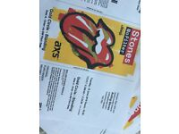 ROLLING STONES TWICKENHAM GOLD CIRCLE. 4 tickets less than face value! £220 each.