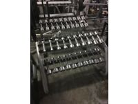 TECHNOGYM DUMBBELL SETS AND OLYMPIC WEIGHT DISCS FORSALE!!
