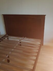 Double bed and matching 6 drawer chest