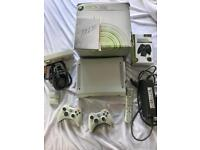Microsoft Xbox 360 , boxed, two controllers remote and fan