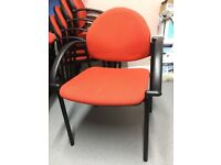 20 stackable red boardroom chairs