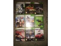 Xbox 360 games 9 bunch of games used