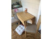 Drop Down Kitchen Table & 2 Chairs