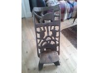 Wooden African hand carved birthing chair