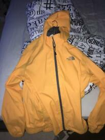 Yellow north face waterproof jacket