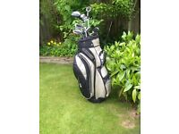 Golf Club Set with Cart and Extras