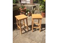 Pair of wooden kitchen stools