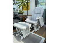 Nursing Baby Recliner Glider Chair & Stool -Tutti Bambini