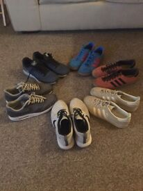 Men's trainers collection all size 9. Some hardly used all in great condition