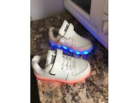Light up unisex trainers