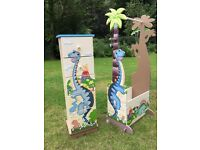 Teamson Childrens Dinosaur Chest of Drawers and Valet Stand