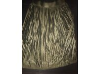 Party wear skirt khaki green