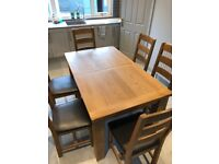 Immaculate Solid Wood Table & Chairs
