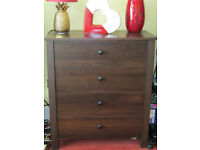 Dark Brown Contemporary Chest Of Drawers - Very Good Condition