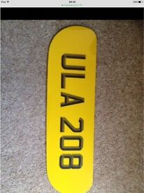 ULA 208. Number plate