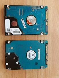 Hard drives 500GB and 320GB