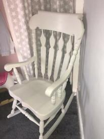 Rocking chair painted in Paris grey