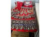 Red heavy stoned dress