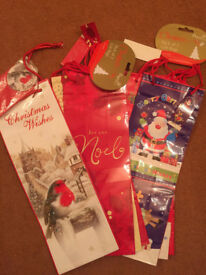 7 Christmas Gift /Bottle Bags (Set 3)
